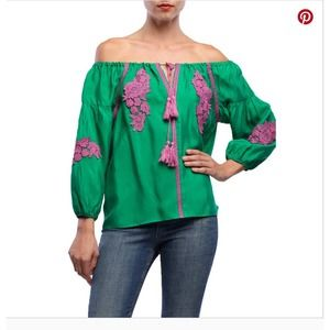 Line & Dot Alicia Embellishment Embroidered Top